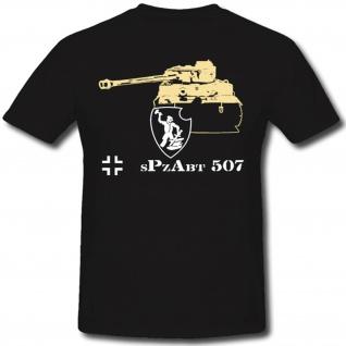 Spzabt Panzer WH Tiger Abteilung Militär Heer - T Shirt #1306