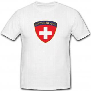 Schweizer Armee Abzeichen Wappen Emblem Heer Militär - T Shirt #3700