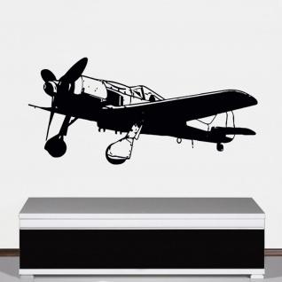 FW 190 Flugzeug Wandtattoo Focke Wulf Luftwaffe Würger 100x45cm #A4829