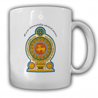Tasse Republik Sri Lanka Wappen Emblem Kaffee Becher #13914