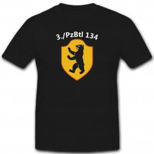 3 PzBtl 134 Bundeswehr Panzer Einheit Wappen Abzeichen - T Shirt #6603