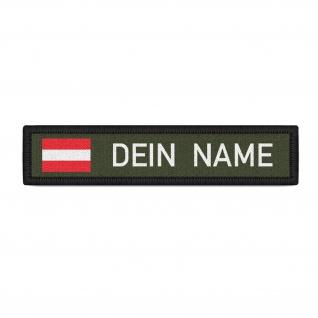 Namenspatch Österreich Oliv Name Patch Aufnäher Wunschname Klett#33230