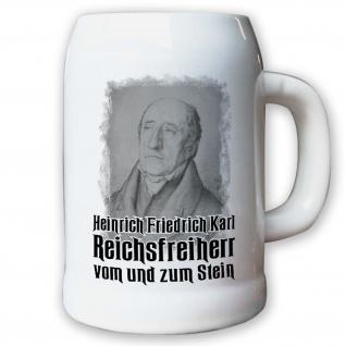 Krug / Bierkrug 0, 5l -Bierkrug Reichsfreiherr vom und zum Stein-Preußen #9596