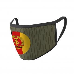 Mund Maske NVA Strich Tarn National Abzeichen Uniform DDR #35324