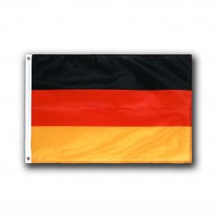 Deutschland Fahne schwarz rot gold Flagge Fußball Fan Weltmeister Metall #24887