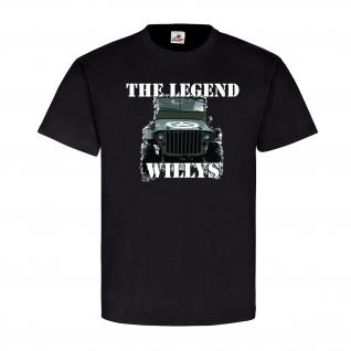 The Legend Willys Us Geländewagen SUV JI Oldtimer Aut ¼-ton 4x4 MB T Shirt #20521