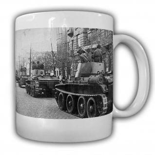 US Einheit fährt durch Rheinuferhafen in Köln Militär Kaffebecher Colonge #22527