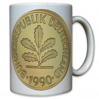 Pfennig Währung Deutsche D Mark Münze Geld BRD Deutschland - Tasse #10468 T