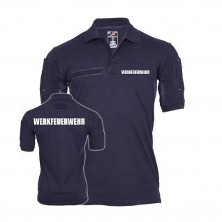 Tactical Poloshirt Werkfeuerwehr Feuerwehr Firmenschutz Firma Brandschutz #30159