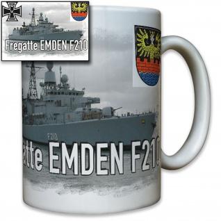 Fregatte Emden F210 deutsche Marine Schiff Wappen Abzeichen - Tasse #8239