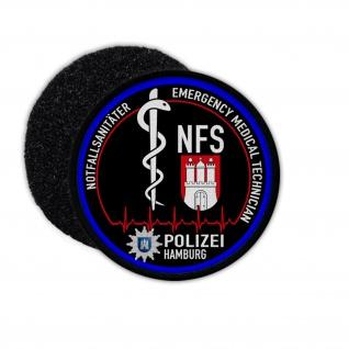 Patch Rund Emergency Medical Technican NFS Polizei Hamburg Notfall #31729