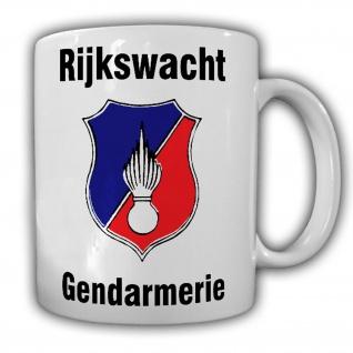 Tasse Rijkswacht Gendarmerie Polizei Wappen Belgien Abzeichen Ministerie #22347