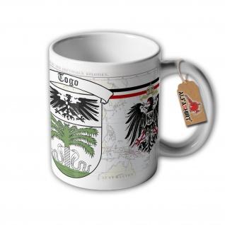 Tasse Deutsche Kolonie Togo Kaiser Reich Wilhelm Wappen Abzeichen #32634