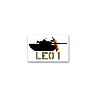 Aufkleber/Sticker Leo 1 deutscher Kampfpanzer Leopard Panzer KP 11x7cm A2384