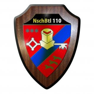 Wappenschild / Wandschild -NschBtl110 Nachschubbataillon Heer BW #9751