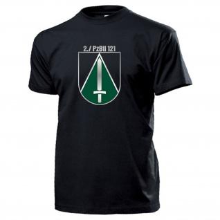 2 Kompanie PzBtl 121 Panzerbataillon BW Wappen Abzeichen Kaserne T Shirt #15331