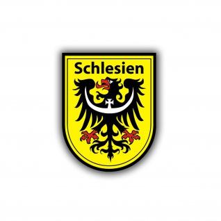 Schlesien Wappen groß Auto Aufkleber Adler Schlesier Heimat 45x57 cm #A4613