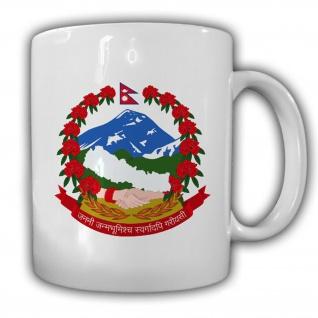 Wappen Bundesrepublik Nepal Wappen Emblem - Tasse Becher #13822