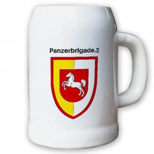 Krug / Bierkrug 0, 5l -Bierkrug Panzerbrigade Einheit Bundeswehr Abzeichen #13008