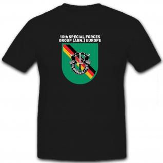 10th Special forces Group [ABN.] Europe Wappen Abzeichen Emblem - T Shirt #8479