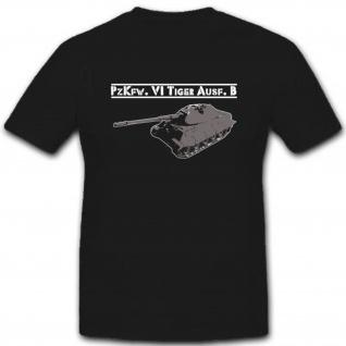 Tiger Panzer Militär Wh Pzkfw Wk Fahrzeug Heer Bundeswehr - T Shirt #2610