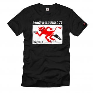 Kampfgeschwader 76 Staffel 1 KG76 Luftwaffe Geschwaderwappen - T Shirt #1080
