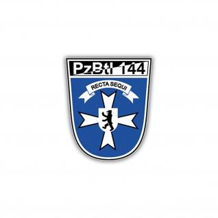 Aufkleber/Sticker PzBtl 144 Wappen Abzeichen BW Panzerbataillon 7x6cm A1249