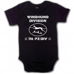 Windhunddivision Windhund Division 116 PzDiv Panzer Babystrampler #5474