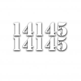 Aufkleber/Sticker Fahrgestellnummer Kennzeichnung Motorhaube 8x30cm A5172