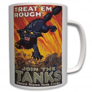 Join the US Tank Corps Militär US Panzer Korps Us Army Plakat - Tasse #6376