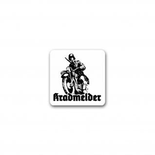 Aufkleber/Sticker Kradmelder Motorrad Streitkräfte Erkunder Moped 7x7cm A2673