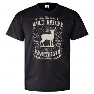Wild Nature Wild Amerika American USA Staaten Jäger Förster - T Shirt #26083