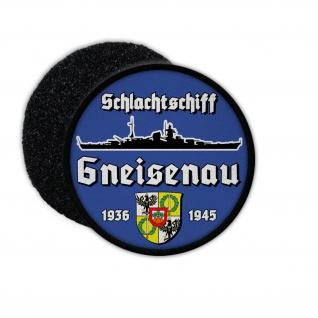 9cm Patch Schlachtschiff Gneisenau Kriegsmarine Aufnäher Wappen#36398