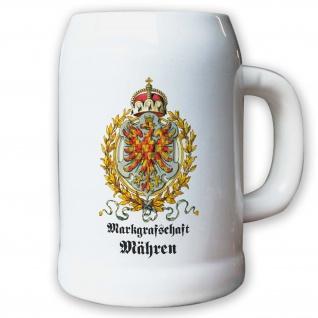 Krug / Bierkrug 0, 5l - Markgrafschaft Mähren Tschechien Landeswappen #9474