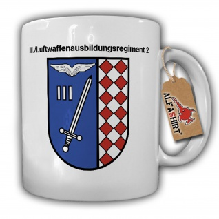 Tasse III Luftwaffenausbildungsregiment 2 Wappen Abzeichen BW Ulmen #17733