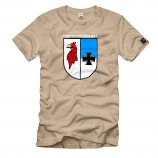 Tergelow PzBtl 413 Panzerbataillon Wappen Emblem Abzeichen - T Shirt #1136