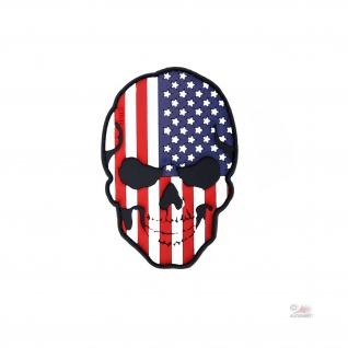 USA Skull 3D Rubber Amerika Us Navy Army Schädel Einsatz Abzeichen 9x6cm #23000