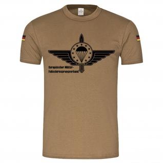 BW Tropen EMFV European Paratrooper Europäischer Militär- Fallschirmsprungverband EMFV Fallschirmjäger Bundeswehr Tropenshirt Abzeichen