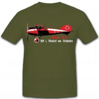 Albatros DV JG 1 Manfred von Richthofen der rote Baron - T Shirt #8694