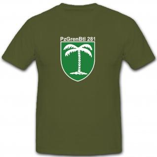 PzGrenBtl 281 Panzer Grenadier Grenadiere Bataillon Bundeswehr - T Shirt #10110