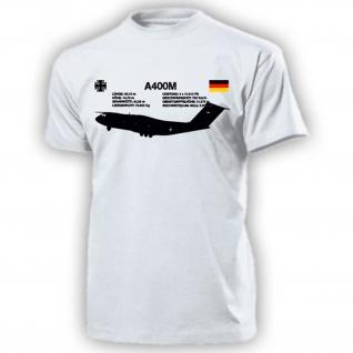 A400M A400 M Bundeswehr Luftwaffe BW Kreuz Flugzeug Transport - T Shirt #18118