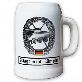Krug / Bierkrug 0, 5l - Barettabezeichen Panzeraufklärung Truppe Emblem #10922