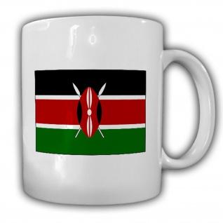 Republik Kenia Fahne_Flagge Jamhuri ya Kenya Kaffee Becher #13541