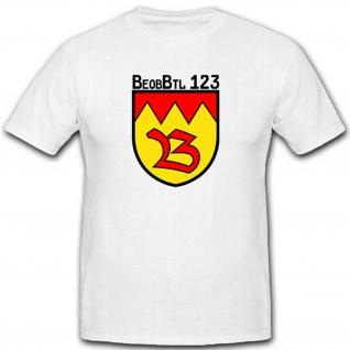 BeobBtl 123 Beobachter Bataillon Bundeswehr Einheit Wappen Heer - T Shirt #2648