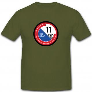 Geb S Bat 11 Schweizer Armee Gebirgs Schützen Bataillon Militär T Shirt #3698