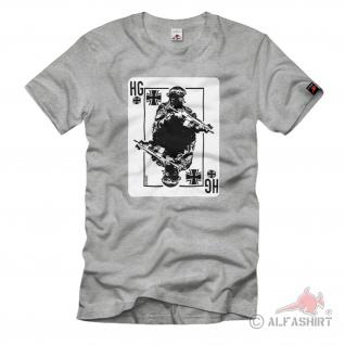 BW Karte DEIN DIENSTGRAD Kartenspiel Bundeswehr personalisierbar T-Shirt#37399