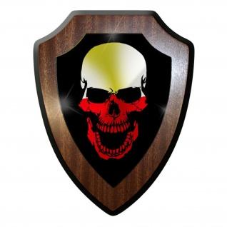Wappenschild / Wandschild - Poland Skull Polen Totenkopf Flagge Fahne- #9671