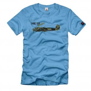 He 111 Bomber Transportmaschine zweimotoriges Flugzeug Luftwaffe - T Shirt #1047