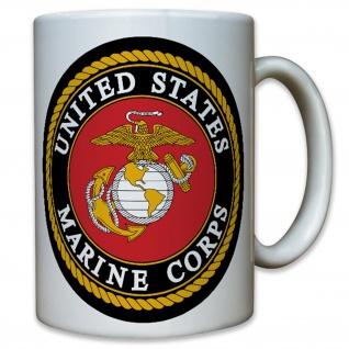 USMC United States Marine Corps USA US Army Militär Wappen - Tasse #8110