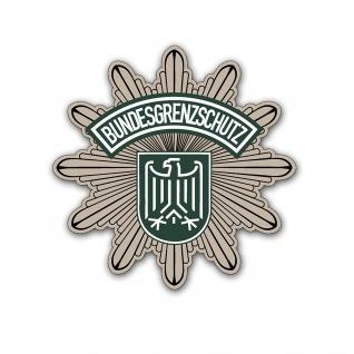 Aufkleber/Sticker BGS Wappen Emblem Stern Bundesgrenzschutz 10x10cm A5379